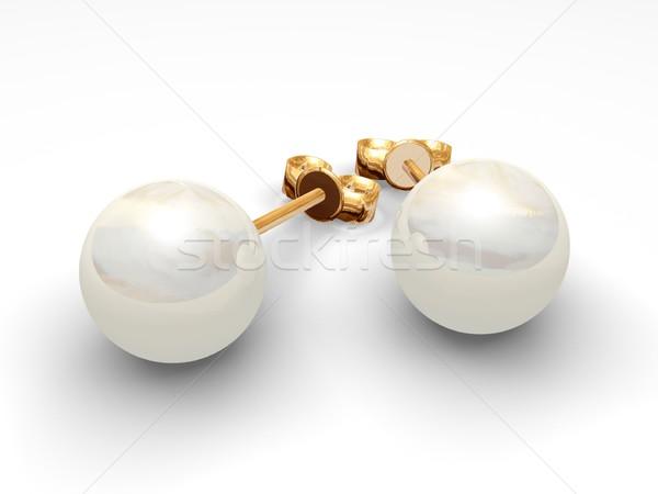 Pearl earrings Stock photo © daneel
