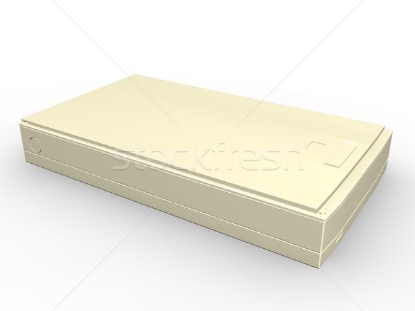 Szkenner illusztráció fehér üzlet terv technológia Stock fotó © daneel