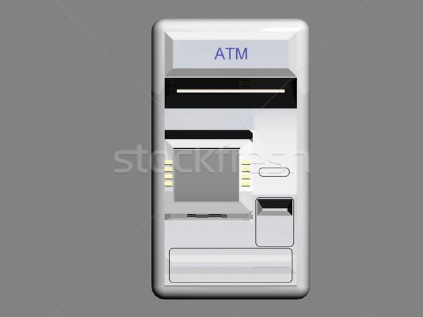 Caixa eletrônico máquina ilustração dinheiro teclado segurança Foto stock © daneel
