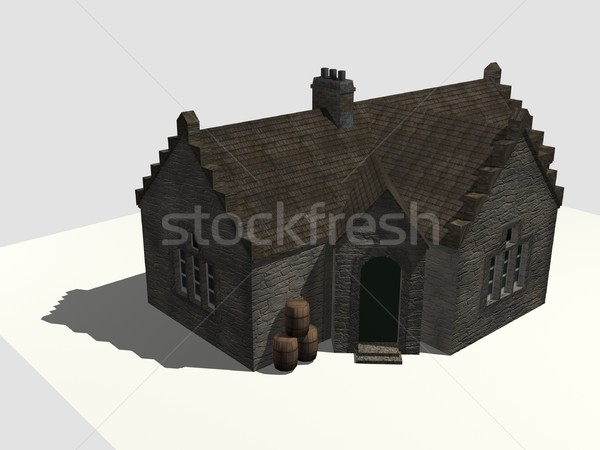 Old house with barrels Stock photo © daneel