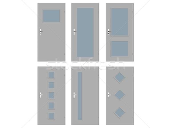 двери коллекция иллюстрация дома аннотация дизайна Сток-фото © daneel