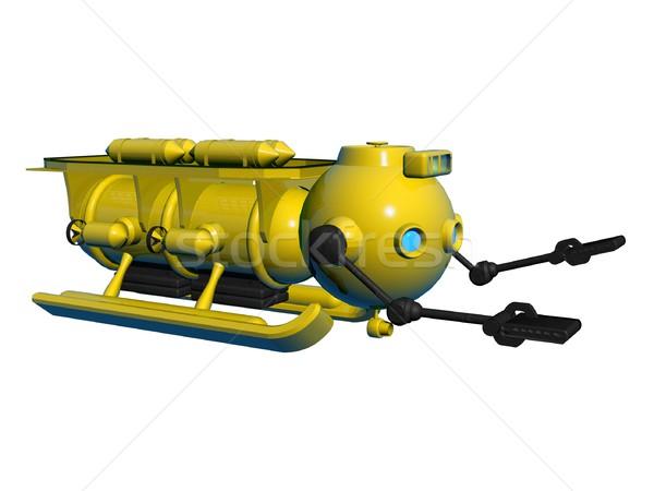 żółty podwodny ilustracja wody ocean podróży Zdjęcia stock © daneel