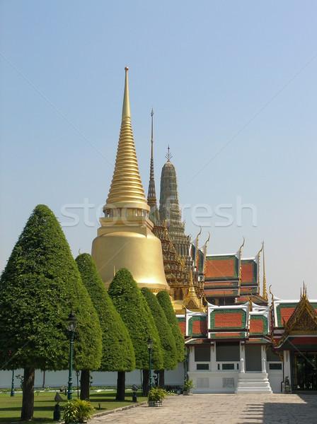 тайский храма Бангкок исторический путешествия красный Сток-фото © daneel