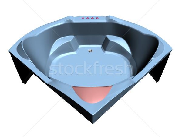 Comfortabel bad illustratie venster stoel interieur Stockfoto © daneel