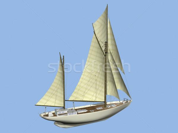 Vela barco ilustración verano hombres grupo Foto stock © daneel