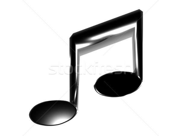 Note musicali illustrazione isolato bianco musica design Foto d'archivio © daneel