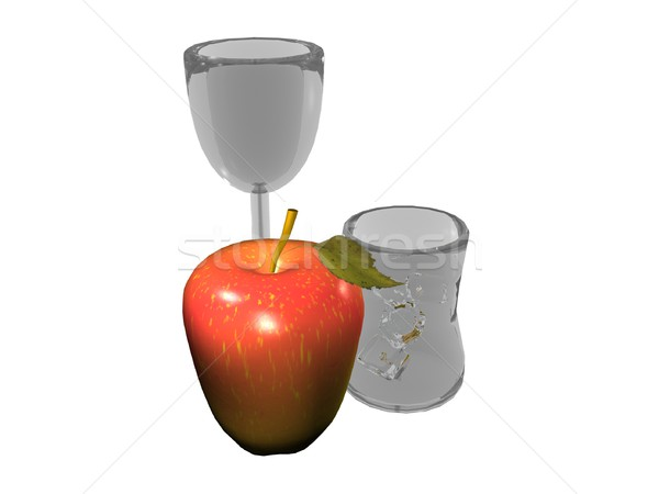 Still life with apple and glasses  Stock photo © daneel