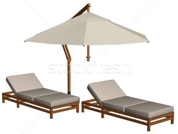 Pool furniture Stock photo © daneel