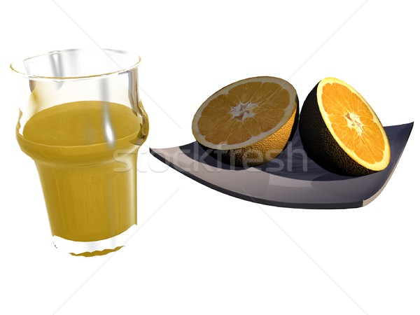 Stock photo: Oranges and juice