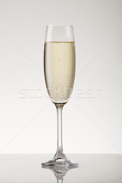şampanya beyaz şarap flüt parti Stok fotoğraf © danienel