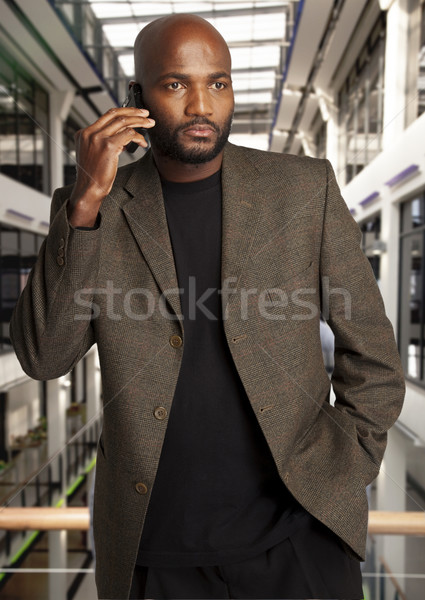 African Businessman on phone Stock photo © danienel