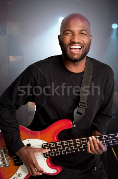 African Bass guitar Player Stock photo © danienel