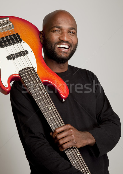 Happy bassist Stock photo © danienel