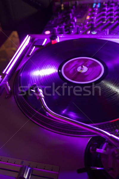 Gare platines disco club mixeur Photo stock © danienel