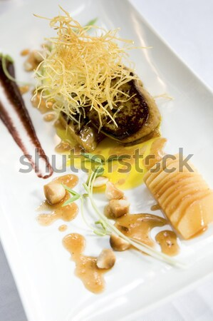 Canard foie coing vin sirop Photo stock © danienel
