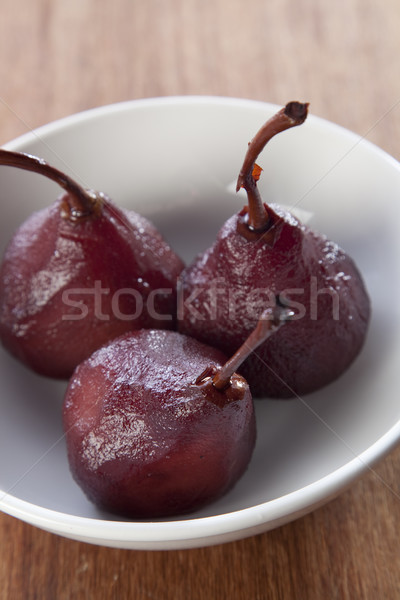 Stock photo: Poached pear