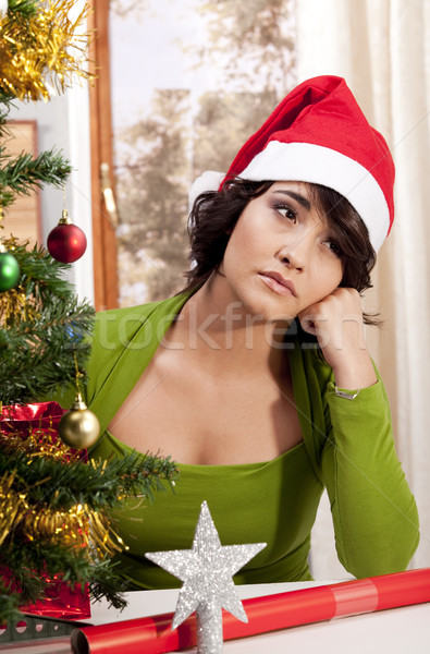 Waiting and lonely at Xmas Stock photo © danienel