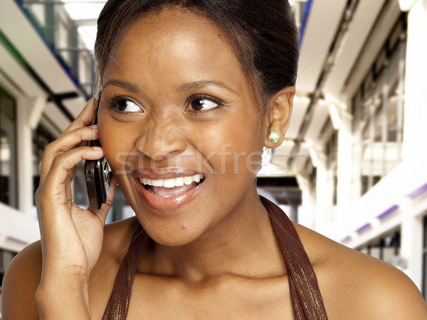 Woman chatting  Stock photo © danienel