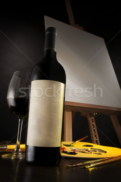 Art and wine Stock photo © danienel