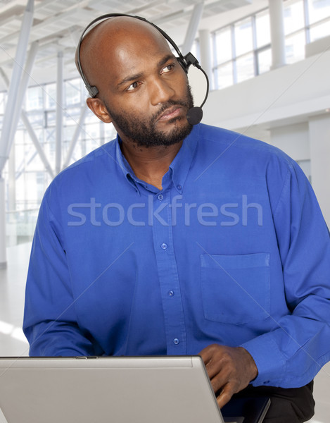 African man doing business Stock photo © danienel