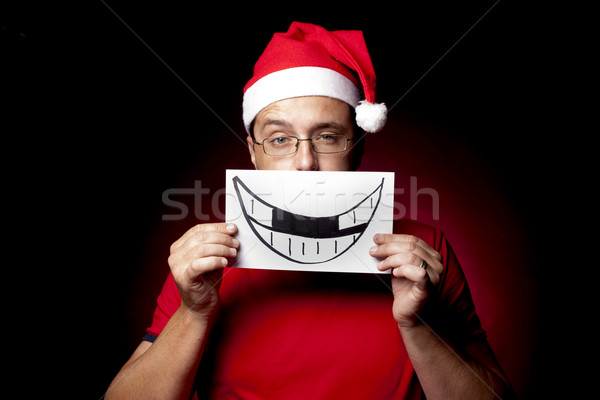 Fake Xmas Smile Stock photo © danienel