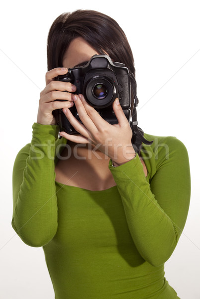 Gorgeous photographer Stock photo © danienel