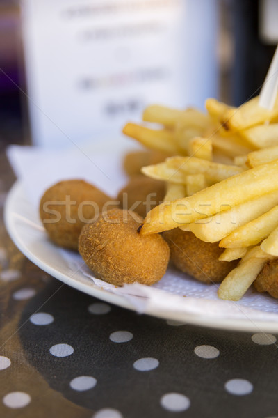 Bitterballe and fries Stock photo © danienel