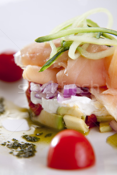 Smoked salmon dish Stock photo © danienel