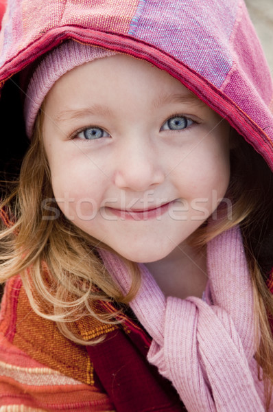 Cute little winter girl Stock photo © danienel
