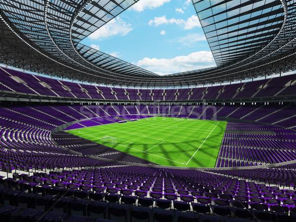 3d render futball futball stadion lila vip Stock fotó © danilo_vuletic