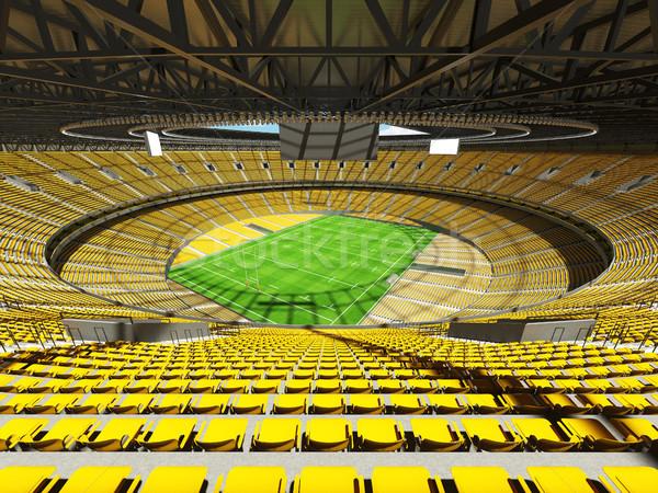 3d render rögbi stadion citromsárga vip dobozok Stock fotó © danilo_vuletic