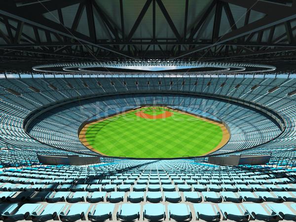 Stock fotó: 3d · render · baseball · stadion · égbolt · kék · vip