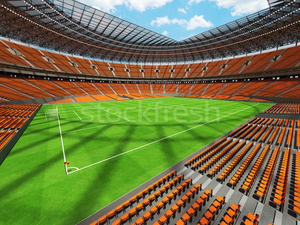 3d render futball futball stadion narancs vip Stock fotó © danilo_vuletic