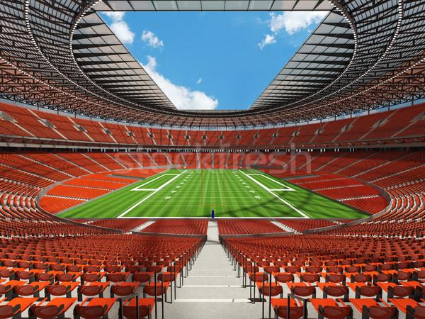 Amerikan futbol stadyum turuncu yüz bin Stok fotoğraf © danilo_vuletic