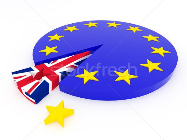 Koninkrijk europese unie 3d render metafoor achtergrond Stockfoto © danilo_vuletic