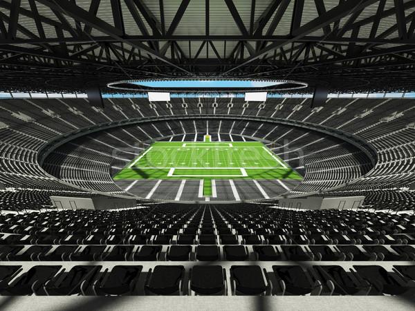 Amerikai futball stadion fekete száz ezer Stock fotó © danilo_vuletic