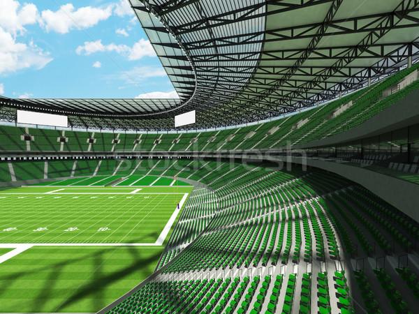 Amerikai futball stadion zöld vip dobozok Stock fotó © danilo_vuletic