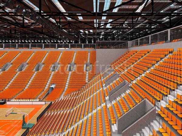 Sportok aréna kosárlabda narancs vip gyönyörű Stock fotó © danilo_vuletic