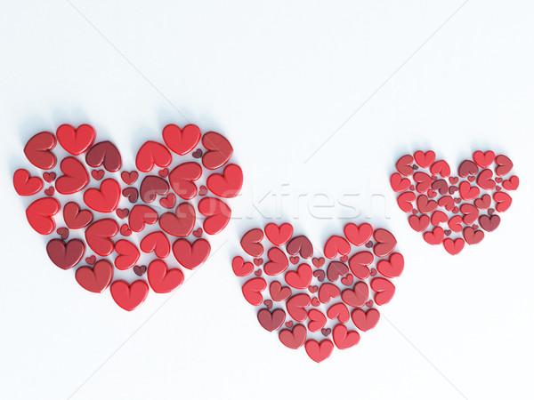 Hermosa romántica día de san valentín saludo tarjeta de regalo 3d Foto stock © danilo_vuletic