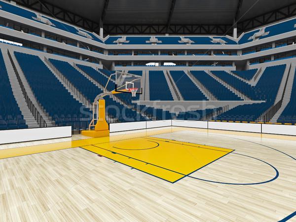 Gyönyörű modern sport aréna kosárlabda kék Stock fotó © danilo_vuletic