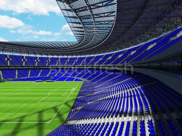Futbol futbol stadyum mavi yüz bin Stok fotoğraf © danilo_vuletic