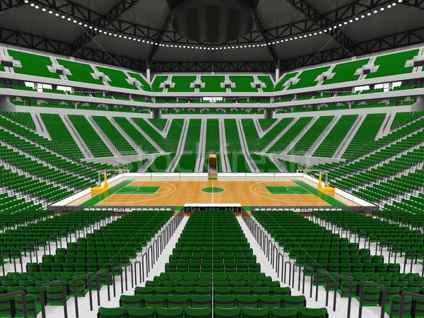 Belle modernes sport arène basket vert Photo stock © danilo_vuletic