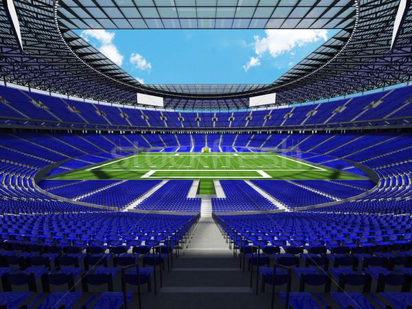 Amerikai futball stadion kék száz ezer Stock fotó © danilo_vuletic