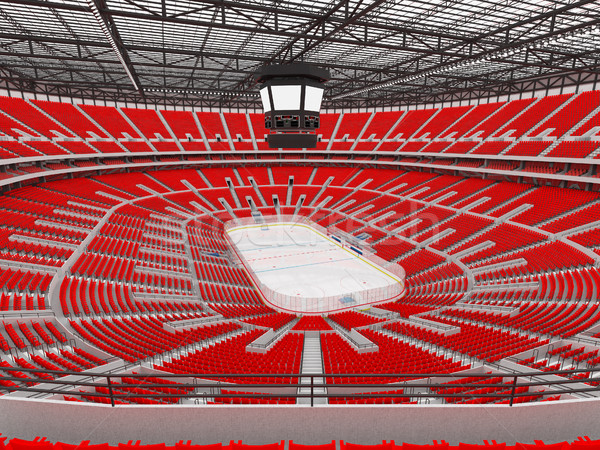 Gyönyörű sportok aréna jégkorong piros vip Stock fotó © danilo_vuletic