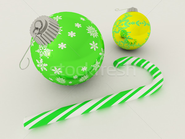 3d render zöld arany ünnep dekoráció cukorka Stock fotó © danilo_vuletic