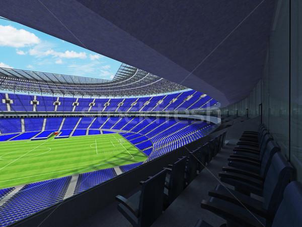 Футбол футбола стадион синий сто тысяча Сток-фото © danilo_vuletic