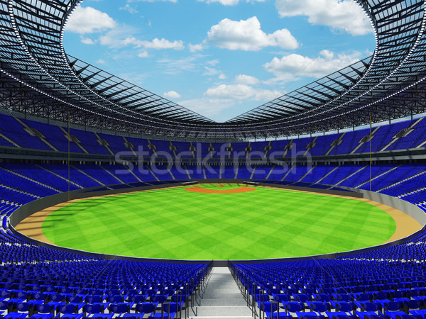 3d render baseball stadion kék vip dobozok Stock fotó © danilo_vuletic