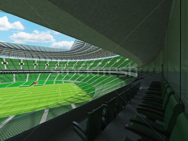 3dのレンダリング サッカー サッカー スタジアム 緑 空 ストックフォト © danilo_vuletic