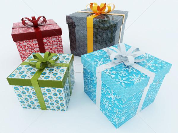 3dのレンダリング 休日 プレゼント 白 贈り物 ストックフォト © danilo_vuletic