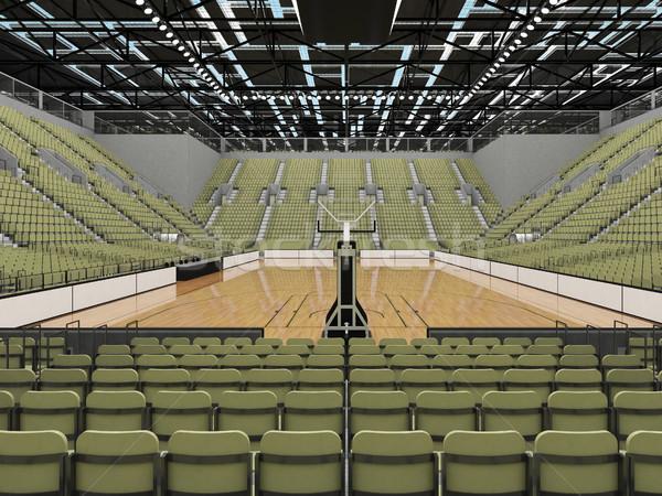 Sportok aréna kosárlabda szürke zöld gyönyörű Stock fotó © danilo_vuletic